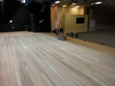 Floor sanding Preparation school stage High School