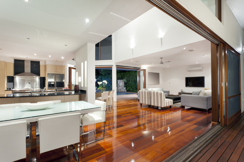 Beautiful polished timber floors